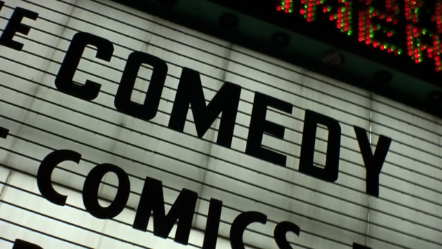 'COMEDY' Show Marquee Sign video