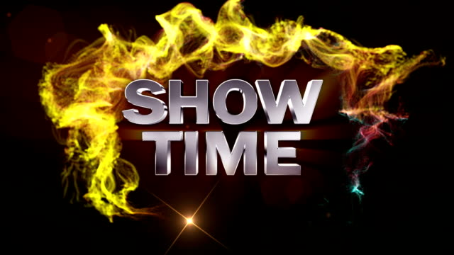 Show Time Text in Particles video