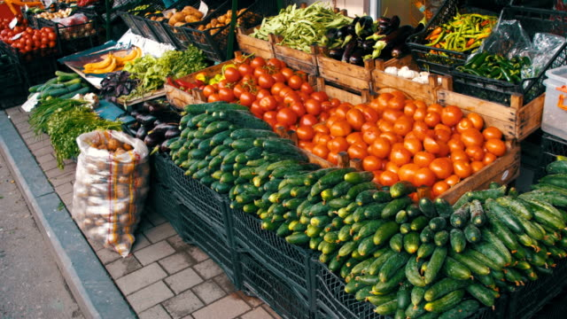 Showcase Vegetables. Farm Fruit Market video