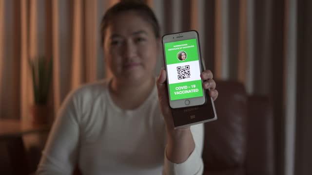 Showing Certificate Digital Vaccine Passport video