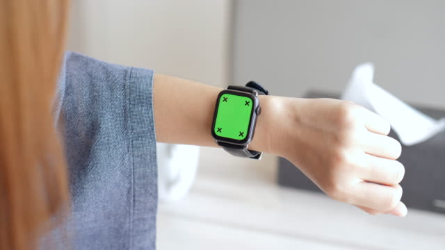 Showing Smartwatch screen ,Chromakey