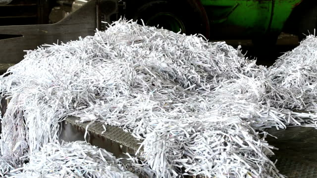 PAN Shredded Paper Prepared For Recycling Process video