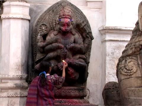 Shrine of Narasimha, Incarnation of Vishnu, Kathmandu, Nepal video
