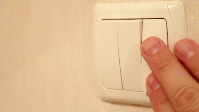 Shut-down Lighting switch shut-down household fixture stock videos & royalty-free footage