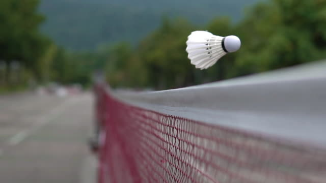 shuttlecock hitting the net. - badminton stock videos & royalty-free footage
