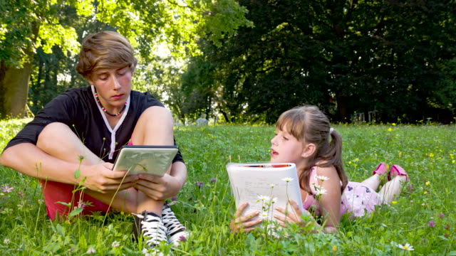 LS DS Siblings Relaxing In The Park video