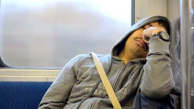 sick men in subway video