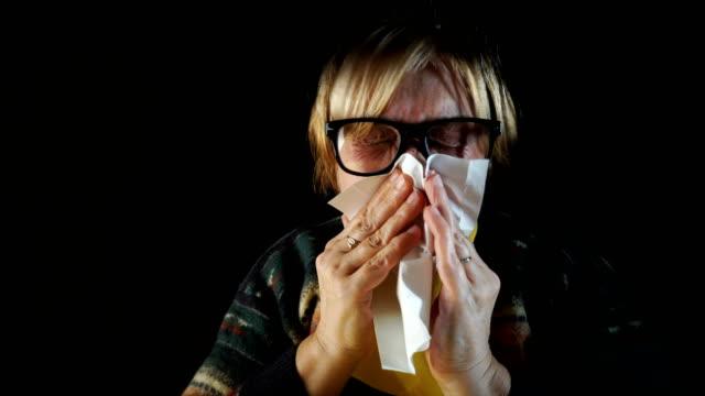 Sick senior woman video