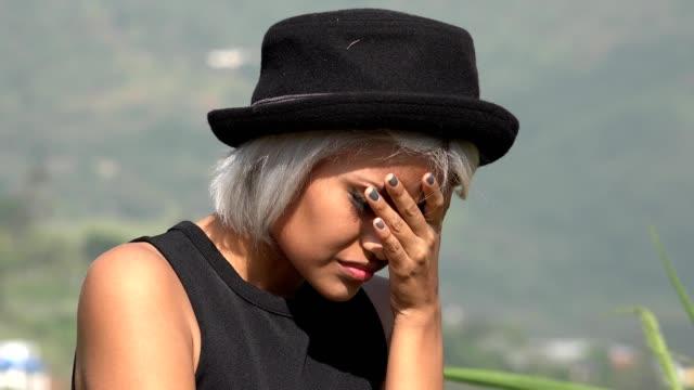 sickness shame worry and stress among women - wine filmów i materiałów b-roll