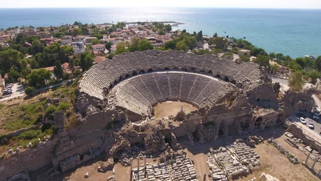 邊古色古香的劇院 - 土耳其 個影片檔及 b 捲影像