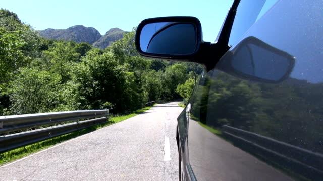 side car driving rural road video