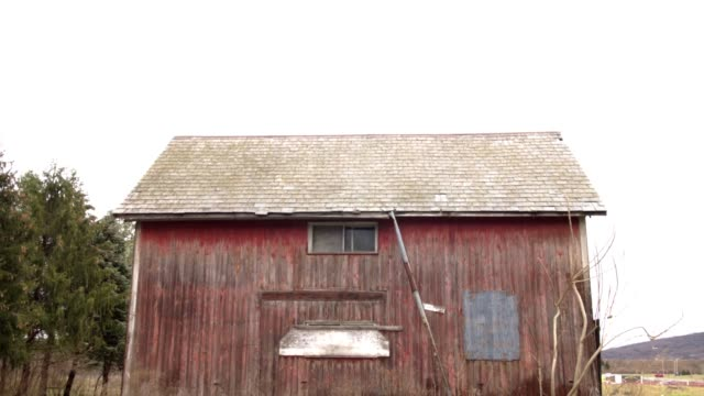 Side of old red barn video