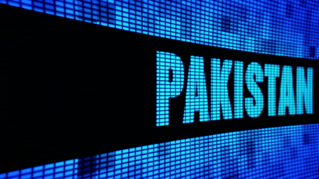 PAKISTAN Side Text Scrolling LED Wall Pannel Display Sign Board