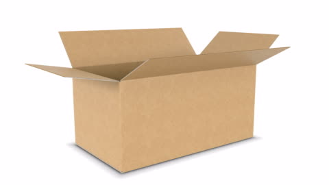 Side View of Beautiful Cardboard Box Opening and Closing on White Backgrounds with Alpha Mask Seamless. Looped 3d Animation of Storage Box. Delivery Concept. Side View of Beautiful Cardboard Box Opening and Closing on White Backgrounds with Alpha Mask Seamless. Looped 3d Animation of Storage Box. Delivery Concept. 4k Ultra HD 3840x2160. loopable moving image stock videos & royalty-free footage