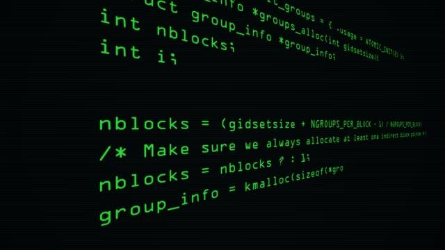 sidovy av hacker-kod som körs i datorskärm terminal. visning av processen av hacker bryter mot net-säkerhet. - meta bildbanksvideor och videomaterial från bakom kulisserna