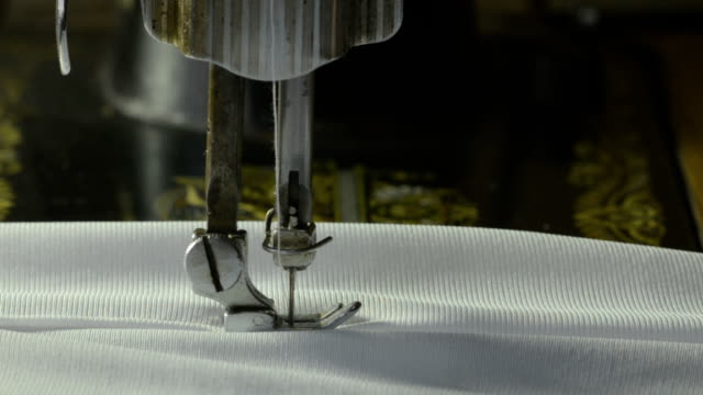 Side view of sewing video