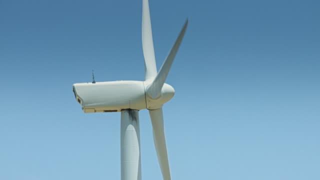 Side View of Wind Turbine video