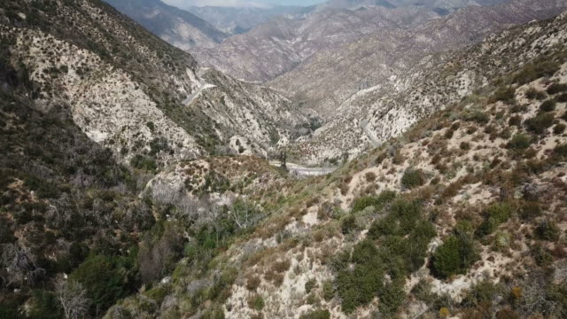 Sides of Mountains Sloping Down to Dry Valley in Southern California video