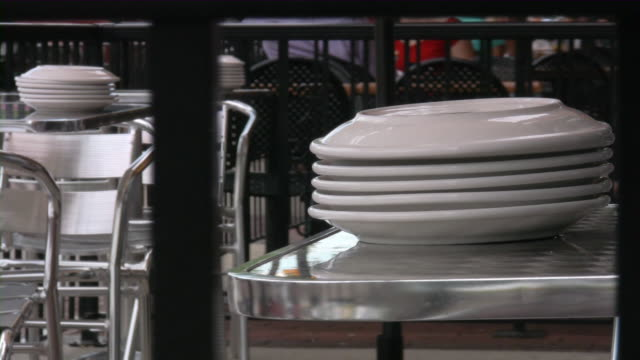 Sidewalk Cafe, Outdoors. Fine dining. Restaurant. video