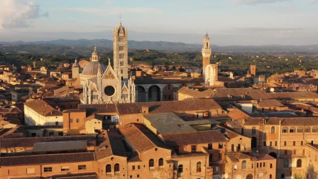 Siena from Above - Aerial View at Sunset