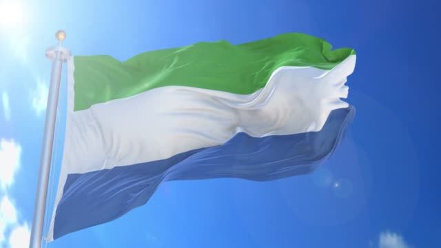 sierra leone animated flag pack in 3d and isolated background - sierra leone video stock e b–roll