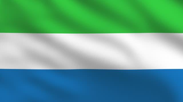 bandiera sierra leone - sierra leone video stock e b–roll