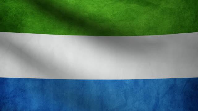 sierra leone flag. - sierra leone video stock e b–roll