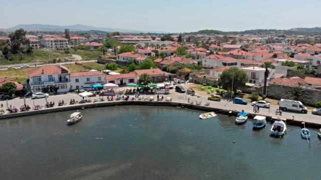 Sigacik (Sığacık) in Izmir Aerial view of Sigacik (Sığacık) in Izmir aegean sea stock videos & royalty-free footage