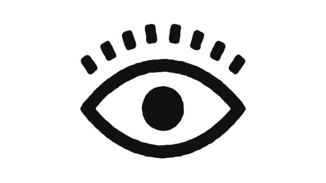 sight icon animation footage & alpha channel - sehvermögen stock-videos und b-roll-filmmaterial