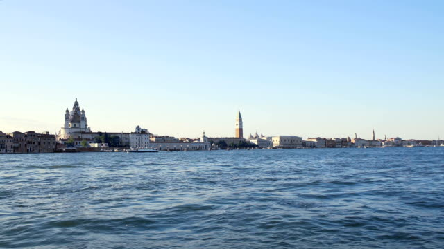 Sightseeing in Venice, view on attractions from touristic boat, water tour video