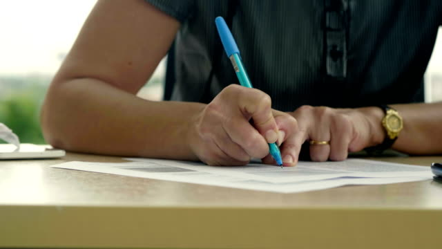 Sign a document Woman writing form filling stock videos & royalty-free footage
