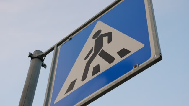 Sign board Pedestrian crossing, picture suddenly retired