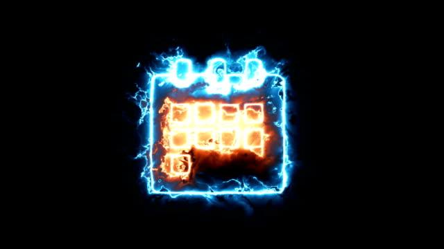 zeichen-kalender. animation-symbole macht aura - kalender icon stock-videos und b-roll-filmmaterial