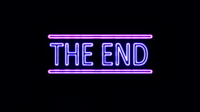 THE END Sign in Neon Style Turning On THE END Sign in Neon Style Turning On neon colored stock videos & royalty-free footage