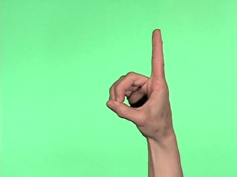 Sign Language Alphabet Letters A-M video