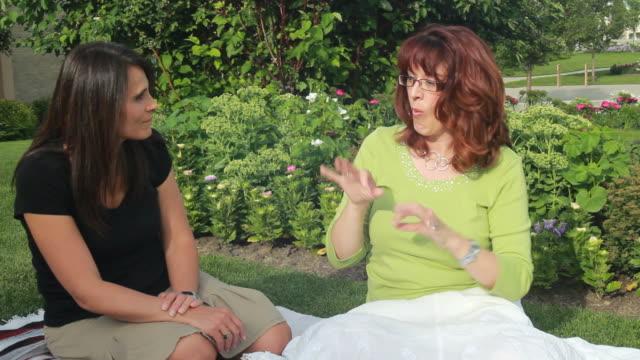 Sign Language-Deaf Ladies Chatting video
