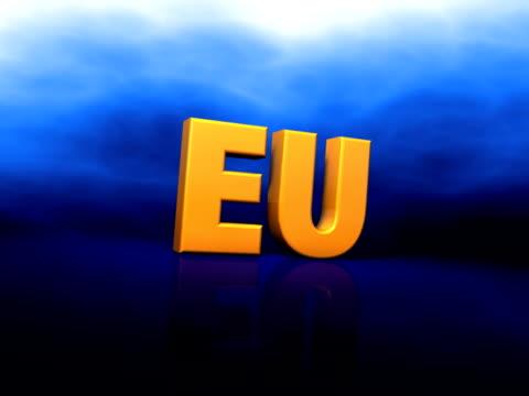 eu サイン(pal25p - 文字記号点の映像素材/bロール