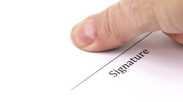 Signature with fingerprint video
