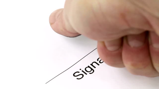 Signature with fingerprint video