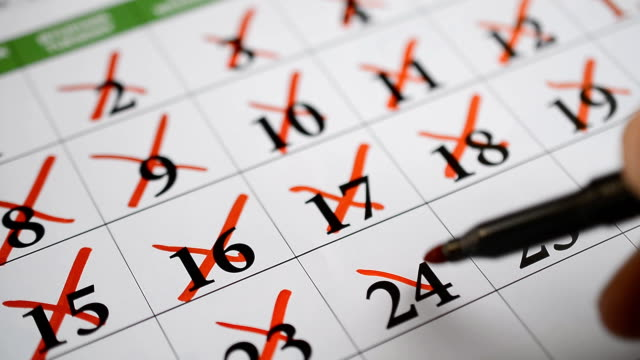 Signing a day on a calendar Signing a day on a calendar hd footage calendar stock videos & royalty-free footage