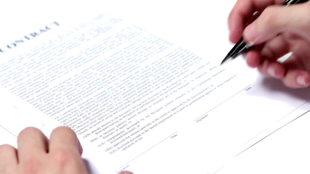 Signing business contract video
