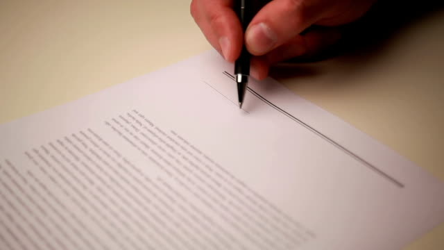 signing contract video
