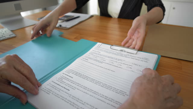 signing of employment contract - unemployment stock videos & royalty-free footage