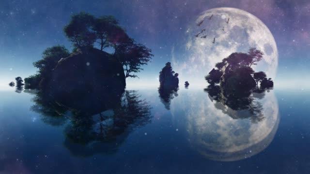 silent islands - сюрреалистический стоковые видео и кадры b-roll