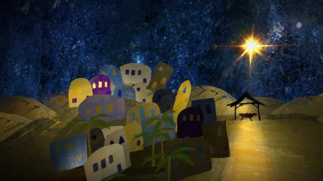 Silent Night, a mixed media animation. Last 10 secs loopable. video