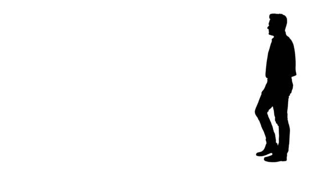 シルエット, カジュアル, 男, ウォーキング - 全身点の映像素材/bロール