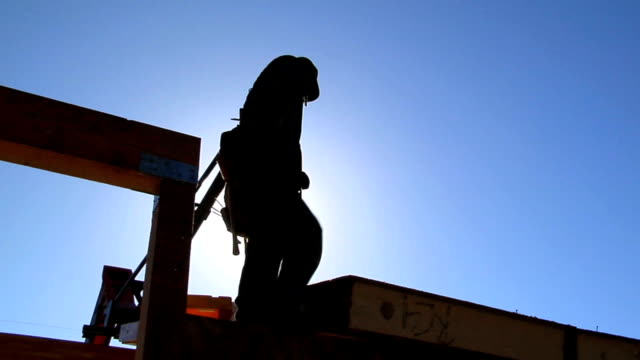 Silhouette Construction Worker video