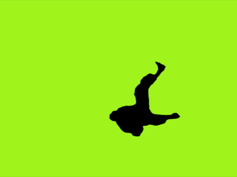 Silhouette Dancer (Green). PAL video