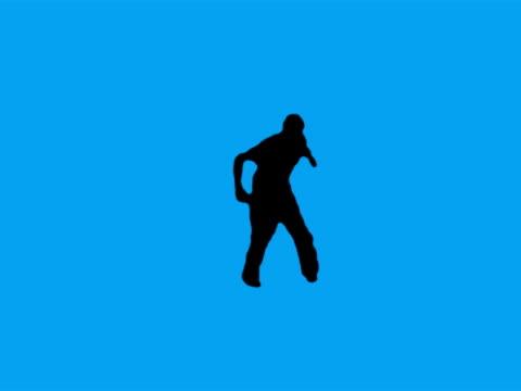 vídeos de stock, filmes e b-roll de silhueta de dança (verde). amigo - músico pop