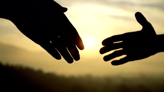 Silhouette Golden Handshake